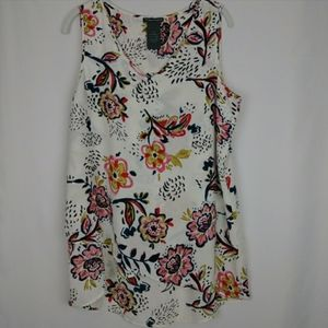 Chelsea & Theodore Sleeveless Floral Top